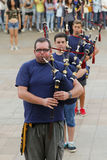 Scottish bagpipers performance Royalty Free Stock Photography