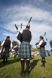 Scottish Bands Pipers Highland Gathering Stock Image
