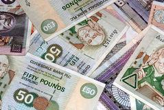Scottish Bank Notes various amounts Stock Photo