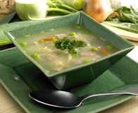 Scottish barley soup Stock Images