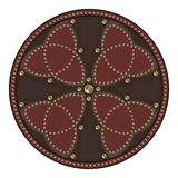 Scottish battle shield decorated with studs in the Celtic style Stock Photos