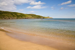 Strathy Point beach, Scotland stock image