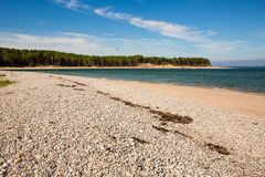 Scottish Beach. A remote beach in Scotland taken near Findhorn during the summer royalty free stock photos