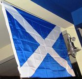 The scottish blue and white flag Royalty Free Stock Photography