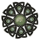Scottish brooch. The legacy of the Scottish knights. Decorated with green agate Stock Image