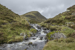 Scottish Burn. This is the burn, flowing from Loch Skeen to The Greymares Tail Royalty Free Stock Photo