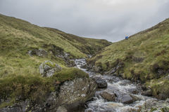 Scottish Burn. This is a Scottish burn leading up to The Greymares Tail Royalty Free Stock Photos