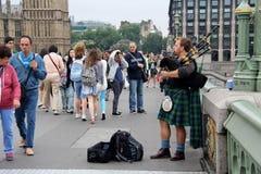 Scottish busker Royalty Free Stock Photography