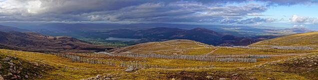 Scottish Cairngorms from Cairn Gorm Mountain Stock Photography