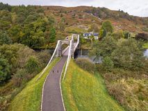 Scottish canal bridge royalty free stock photos