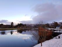 Scottish canal. stock image