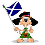 Scottish Cartoon Dog Royalty Free Stock Photography