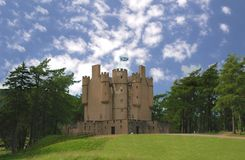 Scottish castle. In the forest royalty free stock images