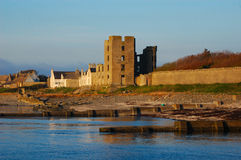 Scottish Castle. Thurso Castle, in Caithness, Scotland, in the golden rays of the evening sunshine Stock Photography