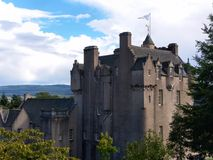 Scottish Castle. Crathes castle, Aberdeen area. Horizontal version Stock Photo