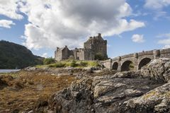 Scottish castle, Eilean Donan Castle stock images