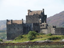 Scottish castle. Medieval eilean donan castle in August, Scotland, UK Royalty Free Stock Photos