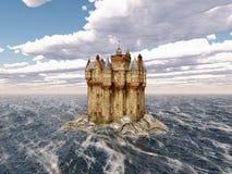 Scottish castle in the sea Stock Photos