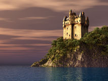 Scottish castle by the sea Stock Photography