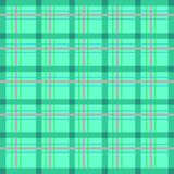 Scottish cell, seamless, vector pattern. Green blue mint Stock Photo