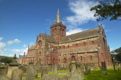 Scottish church and cemetery in Orkney. St Magnus. Scotland. UK Stock Photos