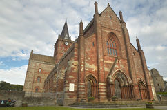 Scottish church in Kirkwall, Orkney. St Magnus. Scotland. UK Royalty Free Stock Image