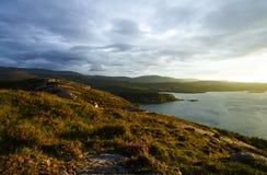 Scottish Coastline At Sunset Royalty Free Stock Photos
