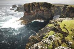 Scottish coastline landscape in Shetland islands. Scotland. UK Stock Image