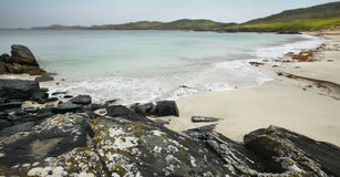 Scottish coastline in Lewis isle. Hebrides. Scotland. UK Royalty Free Stock Image