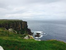 Scottish coastline. A panoramic view of the cliffs on the Scottish coastline Royalty Free Stock Photo