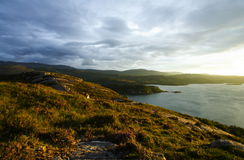 Scottish coastline at sunset Royalty Free Stock Photos