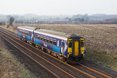 Scottish commuter train Stock Photo
