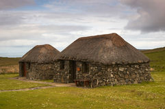 Scottish cottage. Typical old scottish cottage on dramatic weather Stock Photography
