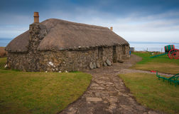 Scottish cottage near the sea Royalty Free Stock Images