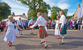 Scottish country dancing Stock Photos