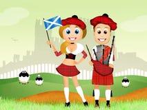 Scottish couple Royalty Free Stock Images
