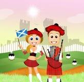 Scottish couple Stock Images