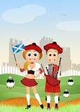 Scottish couple Royalty Free Stock Image
