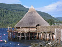 A Scottish Crannog Stock Photo