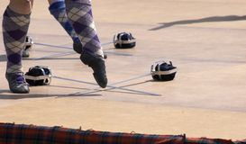 Scottish Dance. Highland dancing Stock Images