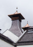 Scottish distillery roof Royalty Free Stock Photo