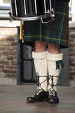 Scottish drummers legs Stock Images