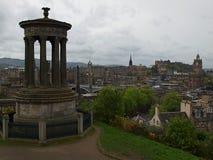 Scottish Edinburgh. Impressive buildings Edinburgh, panoramic view Royalty Free Stock Photography