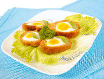 Scottish eggs Stock Photography