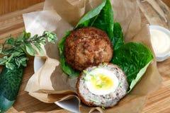 Scottish eggs Stock Images