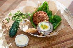 Scottish eggs Stock Image