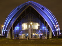 Scottish Exhibition and Conference Centre. (SECC) over river Clyde Royalty Free Stock Photography