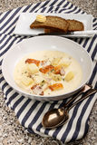 Scottish fish chowder with smoked haddock royalty free stock image