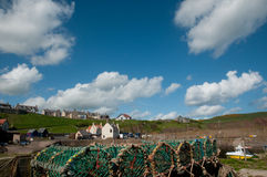 The scottish fishing village Stock Photos