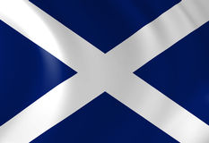 Scottish flag Royalty Free Stock Photo